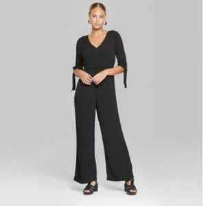 Wild Fable Black 3/4 tie sleeve Jumpsuit / Romper